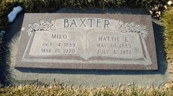 "Harriet Edith ""Hattie"" <I>Bailey</I> Baxter"