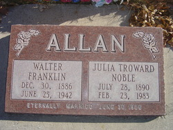 Julia Troward <I>Noble</I> Allan