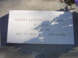 Maude Lorena <I>Sage</I> Hunt