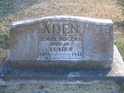 Jennie <I>Rogers</I> Aden