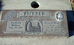 Beulah May <I>Cox</I> Tuttle