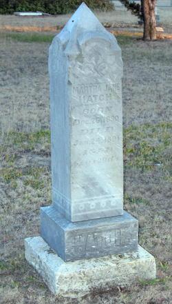 Martha Jane <I>Lyon</I> Hatch