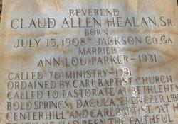 Rev Claud Allen Healan, Sr