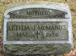 "Leticia J ""Tish"" <I>Clune</I> McManus"
