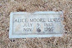 Alice Jane <I>Moore</I> Lewis