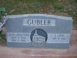 Edith Grace <I>Langford</I> Gubler