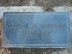 Carrie M <I>Marconett</I> Bauman