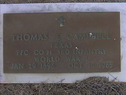 PFC Thomas Edgar Campbell