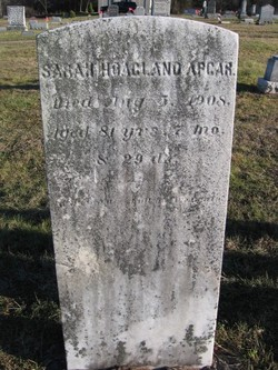 Sarah <I>Hoagland</I> Apgar