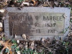 Martha Ellen <I>Weedon</I> Barbee