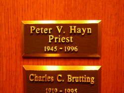 Rev Peter Van Allen Hayn