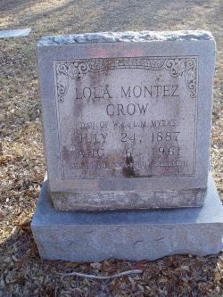 """Lola Montez """"Lutie"""" <I>Myers</I> Crow"""