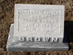 Maria Louise <I>Totten</I> Brown