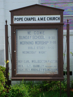 Pope Chapel AME Church Cemetery