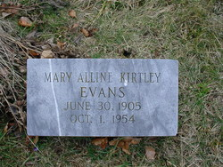 Mary Alline <I>Kirtley</I> Evans