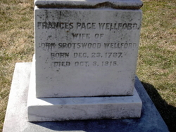 Frances Page <I>Nelson</I> Wellford