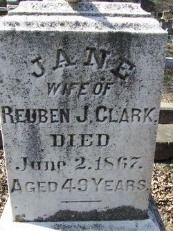 Jane <I>Folger</I> Clark