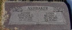 Rebecca Elizabeth <I>Green</I> Ashbaker