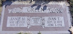 Annie May <I>Hayes</I> Green
