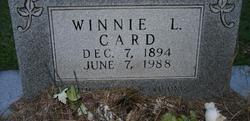 Winnie Irene <I>Legge</I> Card