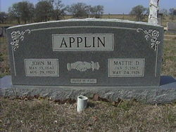 "Martha D ""Mattie"" <I>Wilson</I> Applin"