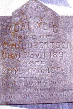 Adaline Catharine <I>Wood</I> Robertson