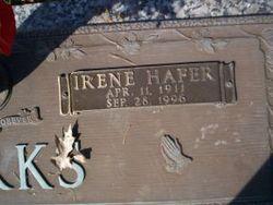 Irene <I>Hafer</I> Burks
