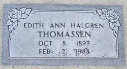 Edith Ann <I>Halgren</I> Thomassen