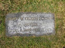 Mary Wilhelmina <I>Olsen</I> Eckert