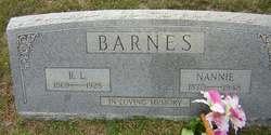 """Nancy Elizabeth """"Nannie"""" <I>Keeling</I> Barnes"""