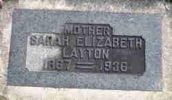 Sarah Elizabeth <I>Woolsey</I> Layton
