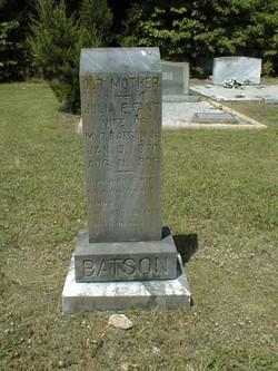 Julia E <I>Fant</I> Batson