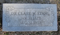 Dr Clare William Stahl