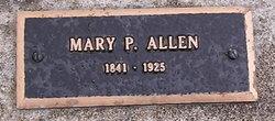 Mary P <I>VanHorn</I> Allen