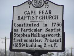 Cape Fear Baptist Church Cemetery