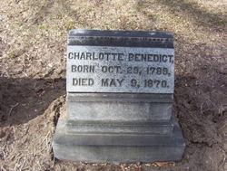 Charlotte <I>Porter</I> Benedict