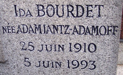 Ida Vartanovna <I>Adamiantz-Adamoff</I> Bourdet