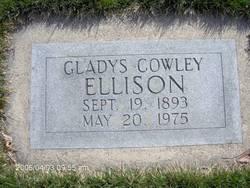 Gladys Wilhelmine <I>Cowley</I> Ellison