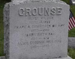 Grace A <I>Comstock</I> Crounse