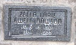 Zella Larie <I>Ewell</I> Dawson