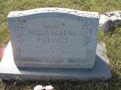 Hallie Lorena <I>Morley</I> Billings
