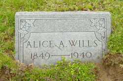 Alice Amelia <I>Baker</I> Wills