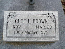 Cloe H. <I>Holder</I> Brown