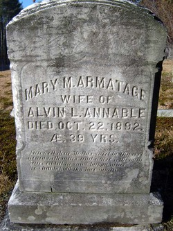Mary M <I>Armatage</I> Annable