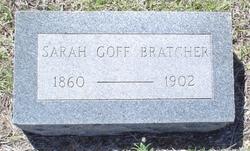 Sarah Eliza <I>Goff</I> Bratcher