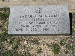 1LT Harold M Adams