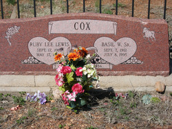 Ruby Lee <I>LEWIS</I> Cox