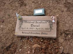 "Mildred A ""Millie"" <I>SCADLOCK</I> Duval"