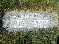Fannie Cecelia <I>Welcher</I> Probert