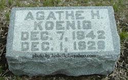 Agathe Henrietta <I>VonWasmer</I> Koenig
